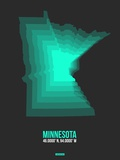 Minnesota Radiant Map 4 Plastic Sign by  NaxArt