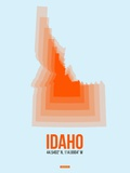 Idaho Radiant Map 1 Plastic Sign by  NaxArt