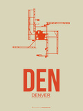 Den Denver  Poster 2 Plastic Sign by  NaxArt