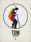 Tom Watercolor Plastic Sign by David Brodsky