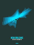 New Orleans Radiant Map 2 Plastic Sign by  NaxArt