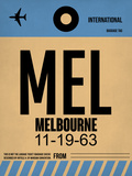 MEL Melbourne Luggage Tag 1 Plastic Sign by  NaxArt