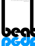 Beat Poster Plastic Sign by  NaxArt