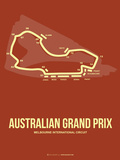 Australian Grand Prix 3 Plastic Sign by  NaxArt