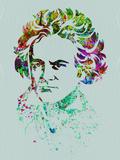 Beethoven Watercolor Signes en plastique rigide par Anna Malkin