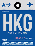 HKG Hog Kong Luggage Tag 1 Plastic Sign by  NaxArt