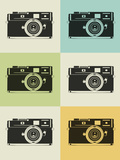 Camera Grid Poster Plastic Sign by  NaxArt