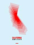 California Radiant Map 4 Plastic Sign by  NaxArt