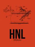 HNL Honolulu Airport Orange Plastic Sign by  NaxArt