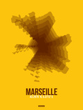 Marseille Radiant Map 3 Plastic Sign by  NaxArt
