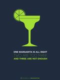 Green Margarita Plastic Sign by  NaxArt