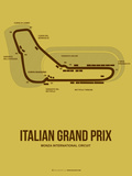 Italian Grand Prix 1 Plastic Sign by  NaxArt