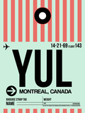 YUL Montreal Luggage Tag 2 Plastic Sign by  NaxArt