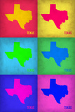 Texas Pop Art Map 1 Plastic Sign by  NaxArt