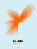 Philadelphia Radiant Map 1 Plastic Sign by  NaxArt