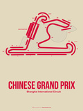 Chinese Grand Prix 3 Plastic Sign by  NaxArt