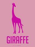 Giraffe Pink Plastic Sign by  NaxArt