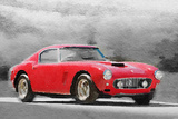 1960 Ferrari 250 GT SWB Watercolor Plastic Sign by  NaxArt
