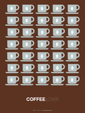 Brown Coffee Poster Plastic Sign by  NaxArt
