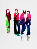 Beatles Watercolor Signe en plastique rigide par Lora Feldman