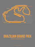 Brazilian Grand Prix 1 Plastic Sign by  NaxArt