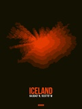 Iceland Radiant Map 1 Plastic Sign by  NaxArt
