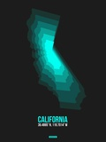 California Radiant Map 3 Plastic Sign by  NaxArt