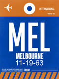 MEL Melbourne Luggage Tag 2 Plastic Sign by  NaxArt
