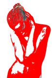 Red Drama Plastic Sign by  NaxArt