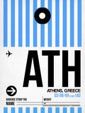 ATH Athens Luggage Tag 1 Plastikskilte af NaxArt