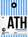 ATH Athens Luggage Tag 1 Plastic Sign by  NaxArt