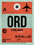 ORD Chicago Luggage Tag 2 Plastic Sign by  NaxArt