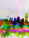 Buffalo Watercolor Skyline Plastic Sign by  NaxArt