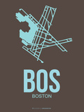 Bos Boston Poster 2 Plastic Sign by  NaxArt