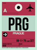 PRG Prague Luggage Tag 2 Plastic Sign by  NaxArt