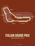 Italian Grand Prix 3 Plastic Sign by  NaxArt