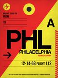 PHL Philadelphia Luggage Tag 2 Plastic Sign by  NaxArt