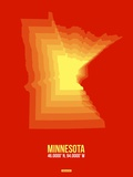 Minnesota Radiant Map 2 Plastic Sign by  NaxArt
