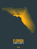 Florida Radiant Map 4 Plastic Sign by  NaxArt