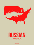 Russian America Poster 1 Plastic Sign by  NaxArt