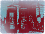 London Telephone Booth Plastic Sign by  NaxArt