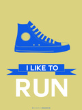 I Like to Run 2 Plastic Sign by  NaxArt