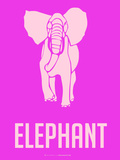 Elephant Pink Plastic Sign by  NaxArt