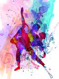 Romantic Ballet Watercolor 3 Cartel de plástico por Irina March