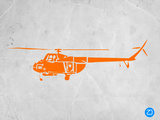 Orange Helicopter Plastic Sign by  NaxArt
