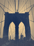 Brooklyn Bridge Plastic Sign by  NaxArt
