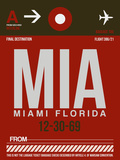 MIA Miami Luggage Tag 2 Plastic Sign by  NaxArt
