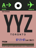 YYZ Toronto Luggage Tag 2 Plastic Sign by  NaxArt