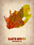 South Africa Watercolor Poster Plastic Sign by  NaxArt