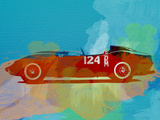 Ferrari Testa Rossa Watercolor 1 Plastic Sign by  NaxArt